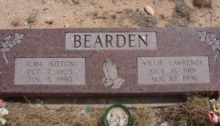 BEARDEN, WILLIE LAWRENCE - Ward County, Texas | WILLIE LAWRENCE BEARDEN - Texas Gravestone Photos