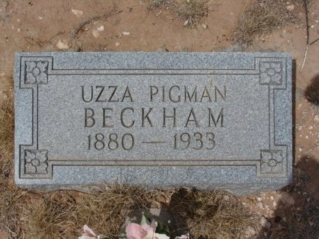 BECKHAM, UZZA - Ward County, Texas | UZZA BECKHAM - Texas Gravestone Photos