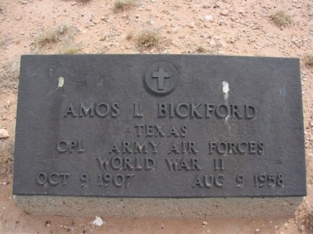 BICKFORD (VETERAN WWII), AMOS L. - Ward County, Texas | AMOS L. BICKFORD (VETERAN WWII) - Texas Gravestone Photos