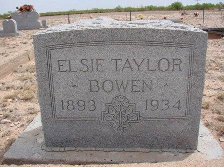 TAYLOR BOWEN, ELSIE - Ward County, Texas | ELSIE TAYLOR BOWEN - Texas Gravestone Photos