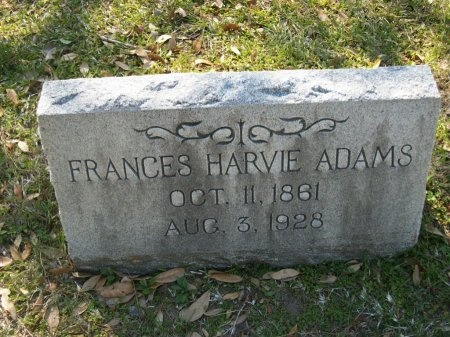 ADAMS, FRANCES HARVIE - Washington County, Texas | FRANCES HARVIE ADAMS - Texas Gravestone Photos