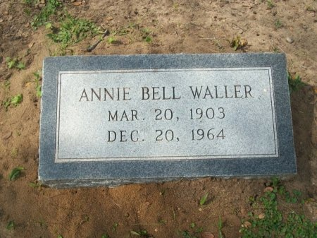 HILL WALLER, ANNIE BELL - Washington County, Texas | ANNIE BELL HILL WALLER - Texas Gravestone Photos