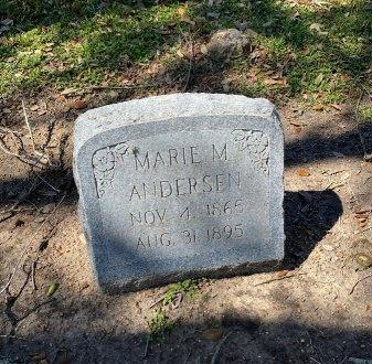 ANDERSEN, MARIE M. - Wharton County, Texas | MARIE M. ANDERSEN - Texas Gravestone Photos