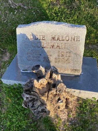 MALONE COLEMAN, ADDIE - Wharton County, Texas | ADDIE MALONE COLEMAN - Texas Gravestone Photos