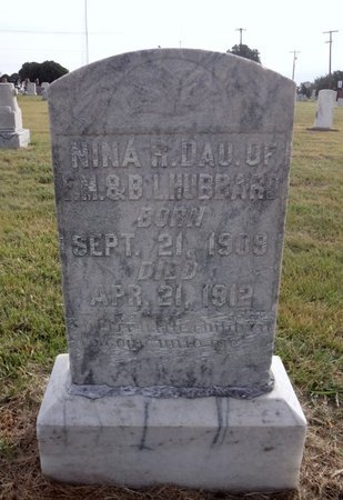 HUBBARD, NINA R - Wichita County, Texas | NINA R HUBBARD - Texas Gravestone Photos