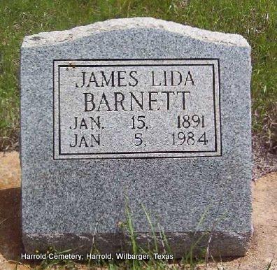 BARNETT, JAMES LIDA - Wilbarger County, Texas | JAMES LIDA BARNETT - Texas Gravestone Photos
