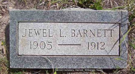 BARNETT, JEWEL L - Wilbarger County, Texas | JEWEL L BARNETT - Texas Gravestone Photos