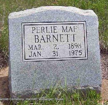 BARNETT, PERLIE MAE - Wilbarger County, Texas | PERLIE MAE BARNETT - Texas Gravestone Photos