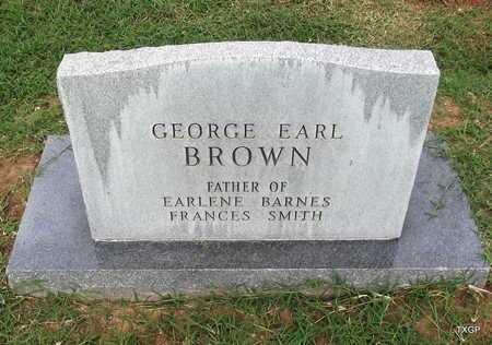 BROWN, GEORGE EARL - Wilbarger County, Texas | GEORGE EARL BROWN - Texas Gravestone Photos