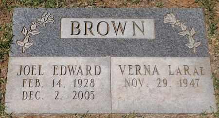 BROWN, JOEL EDWARD - Wilbarger County, Texas   JOEL EDWARD BROWN - Texas Gravestone Photos