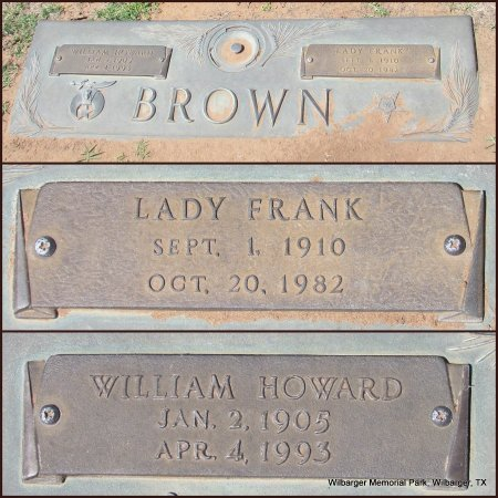 BROWN, WILLIAM HOWARD - Wilbarger County, Texas | WILLIAM HOWARD BROWN - Texas Gravestone Photos