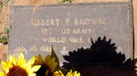 BROWN (VETERAN WWI), ROBERT T - Wilbarger County, Texas | ROBERT T BROWN (VETERAN WWI) - Texas Gravestone Photos
