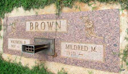 BROWN, WAYMON R - Wilbarger County, Texas | WAYMON R BROWN - Texas Gravestone Photos