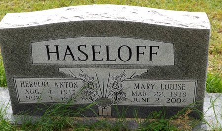 HASELOFF, MARY LOUISE - Wilbarger County, Texas | MARY LOUISE HASELOFF - Texas Gravestone Photos