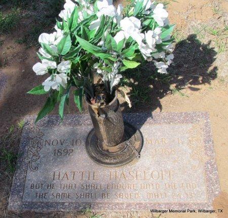 HASELOFF, HATTIE - Wilbarger County, Texas   HATTIE HASELOFF - Texas Gravestone Photos