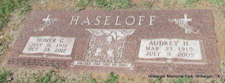 HASELOFF, HOMER G - Wilbarger County, Texas | HOMER G HASELOFF - Texas Gravestone Photos