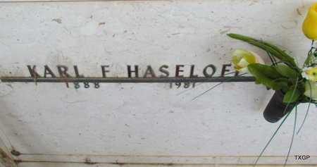 HASELOFF, KARL F - Wilbarger County, Texas   KARL F HASELOFF - Texas Gravestone Photos