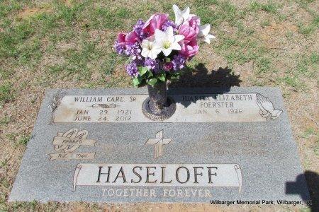 HASELOFF, JUANITA ELIZABETH - Wilbarger County, Texas | JUANITA ELIZABETH HASELOFF - Texas Gravestone Photos