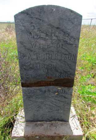 ROBERTSON, MATTIE L - Wilbarger County, Texas | MATTIE L ROBERTSON - Texas Gravestone Photos