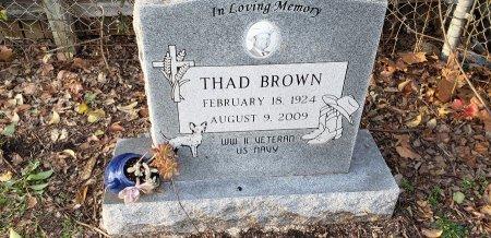 BROWN (VETERAN WWII), THAD - Williamson County, Texas | THAD BROWN (VETERAN WWII) - Texas Gravestone Photos