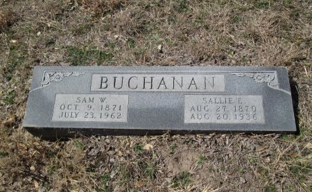 BUCHANAN, SALLIE E. - Williamson County, Texas | SALLIE E. BUCHANAN - Texas Gravestone Photos
