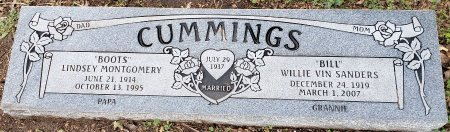 "CUMMINGS, WILLIE VIN ""BILL"" - Williamson County, Texas 