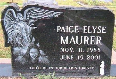 MAURER, PAIGE ELYSE - Williamson County, Texas | PAIGE ELYSE MAURER - Texas Gravestone Photos