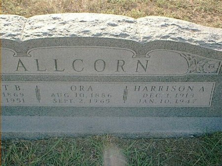 ALLCORN, HARRISON A. - Wise County, Texas | HARRISON A. ALLCORN - Texas Gravestone Photos