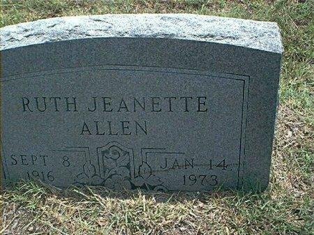 REID ALLEN, RUTH JEANETTE - Wise County, Texas | RUTH JEANETTE REID ALLEN - Texas Gravestone Photos