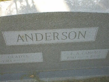 HUTCHISON ANDERSON, GLADYS VIRGINIA - Wise County, Texas | GLADYS VIRGINIA HUTCHISON ANDERSON - Texas Gravestone Photos