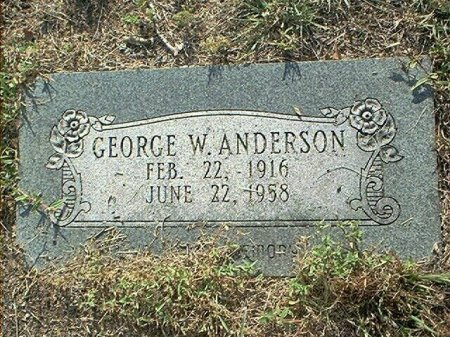 ANDERSON, GEORGE W. - Wise County, Texas | GEORGE W. ANDERSON - Texas Gravestone Photos