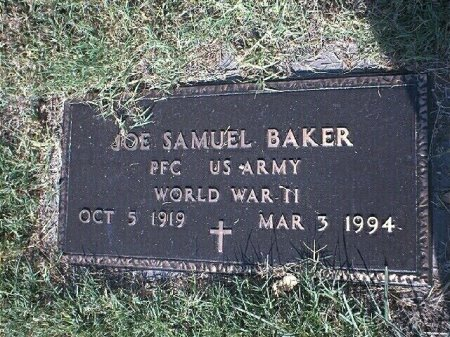 BAKER (VETERAN WWII), JOE SAMUEL - Wise County, Texas | JOE SAMUEL BAKER (VETERAN WWII) - Texas Gravestone Photos