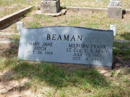 BEAMAN (VETERAN), MILBURN FRANK - Wise County, Texas | MILBURN FRANK BEAMAN (VETERAN) - Texas Gravestone Photos
