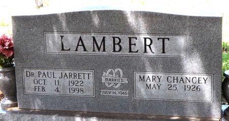 LAMBERT, PAUL JARRETT - Wise County, Texas   PAUL JARRETT LAMBERT - Texas Gravestone Photos