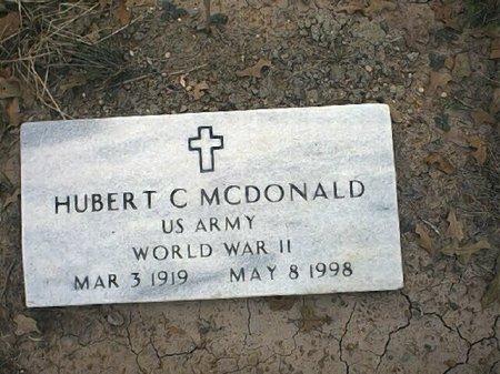 MCDONALD (VETERAN WWII), HUBERT CLINTON - Wise County, Texas   HUBERT CLINTON MCDONALD (VETERAN WWII) - Texas Gravestone Photos
