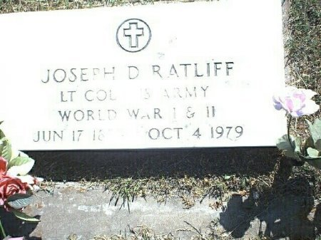 RATLIFF (VETERAN 2 WARS), JOSEPH D. - Wise County, Texas   JOSEPH D. RATLIFF (VETERAN 2 WARS) - Texas Gravestone Photos