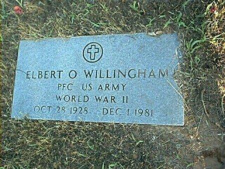 WILLINGHAM (VETERAN WWII), ELBERT O. - Wise County, Texas | ELBERT O. WILLINGHAM (VETERAN WWII) - Texas Gravestone Photos
