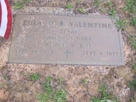 VALENTINE (VETERAN WWII), EULA DEAN BROOKE - Wood County, Texas | EULA DEAN BROOKE VALENTINE (VETERAN WWII) - Texas Gravestone Photos