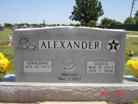 ALEXANDER, LEONARD CLETUS - Young County, Texas | LEONARD CLETUS ALEXANDER - Texas Gravestone Photos
