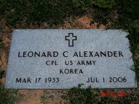 ALEXANDER (VETERAN KOR), LEONARD CLETUS - Young County, Texas | LEONARD CLETUS ALEXANDER (VETERAN KOR) - Texas Gravestone Photos