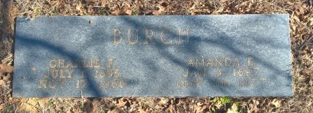 """BURCH, SR., CHARLES FRANK """"CHARLIE"""" - Young County, Texas 