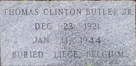 BUTLER, JR (VETERAN WWII KIA), THOMAS CLINTON - Young County, Texas   THOMAS CLINTON BUTLER, JR (VETERAN WWII KIA) - Texas Gravestone Photos