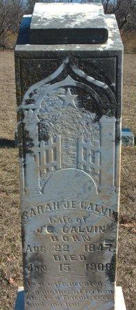 CHAFFEE CALVIN, SARAH JEAN ELIZABETH - Young County, Texas | SARAH JEAN ELIZABETH CHAFFEE CALVIN - Texas Gravestone Photos
