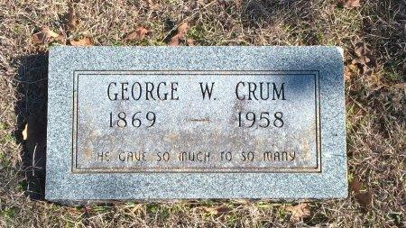 CRUM, GEORGE W - Young County, Texas | GEORGE W CRUM - Texas Gravestone Photos