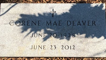 WILLIAMS DEAVER, CORENE MAE - Young County, Texas | CORENE MAE WILLIAMS DEAVER - Texas Gravestone Photos