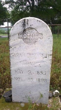 FARMER, SARAH ELIZABETH - Young County, Texas   SARAH ELIZABETH FARMER - Texas Gravestone Photos