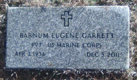 GARRETT (VETERAN), BARNUM EUGENE - Young County, Texas | BARNUM EUGENE GARRETT (VETERAN) - Texas Gravestone Photos