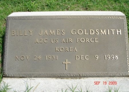 GOLDSMITH (VETERAN KOR), BILLY JAMES - Young County, Texas | BILLY JAMES GOLDSMITH (VETERAN KOR) - Texas Gravestone Photos