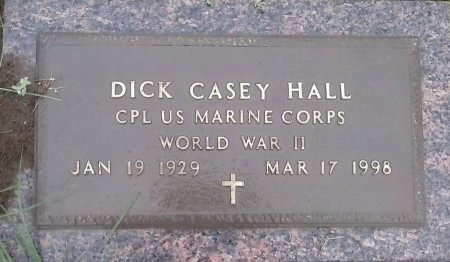 HALL (VETERAN WWII), DICK CASEY  - Young County, Texas | DICK CASEY  HALL (VETERAN WWII) - Texas Gravestone Photos