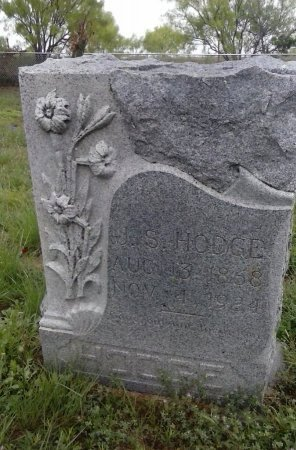 HODGE, J S - Young County, Texas   J S HODGE - Texas Gravestone Photos